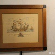 Arte: DECORACIÓN NAVAL, PAREJA DE SERIGRAFÍAS DE BARCOS. Lote 171753780