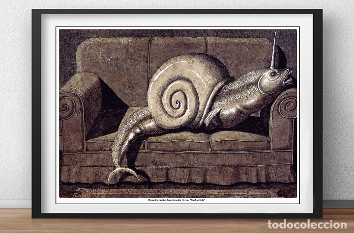 POSTER DE - DOMENICO GNOLI AT LUXEMBOURG & DAYAN - SNAIL ON SOFA - TAMAÑO 68 X 50 CMS (Arte - Serigrafías )