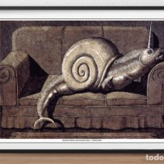Arte: POSTER DE - DOMENICO GNOLI AT LUXEMBOURG & DAYAN - SNAIL ON SOFA - TAMAÑO 68 X 50 CMS. Lote 172377072