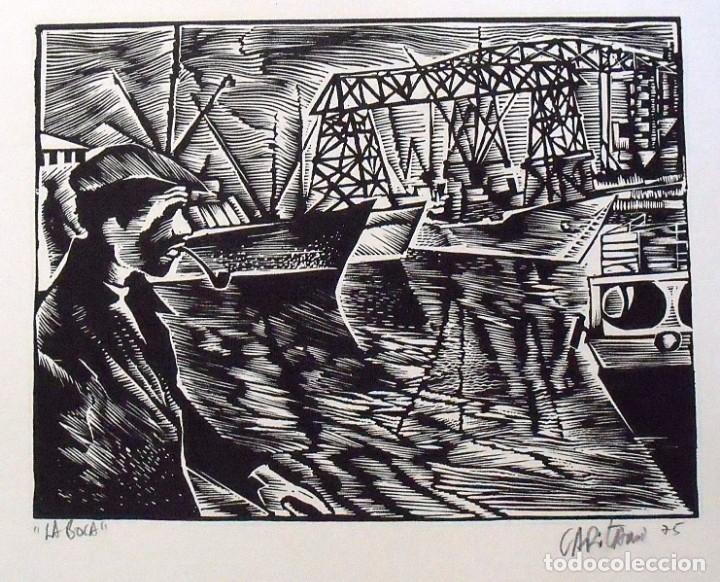 Arte: Raul Capitani. La boca. Firmada a mano. 1975. 23x32 cm. Buen estado. - Foto 2 - 172417349
