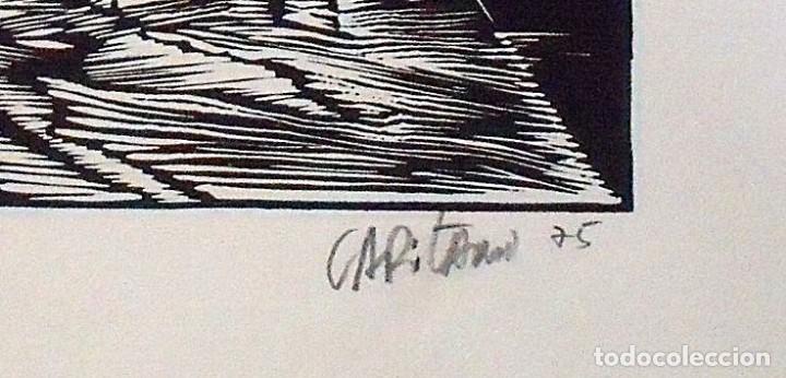 Arte: Raul Capitani. La boca. Firmada a mano. 1975. 23x32 cm. Buen estado. - Foto 3 - 172417349