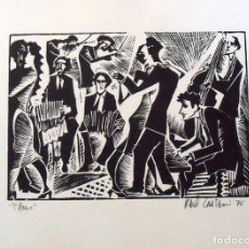Arte: RAUL CAPITANI. TANGO. FIRMADA A MANO. 1975. 23X32 CM. BUEN ESTADO. ARGENTINA.. Lote 172417417