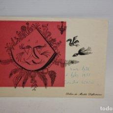 Arte: MADILE DEFFONTAINES - FELICITACION DE ALEXANDRE CIRICI - 1955.. Lote 173408554
