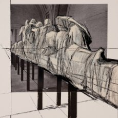 Arte: WAPPED STATUES, PROJECT FOR THE GLYPTOTHER, MUNICH WEST , GERMANY- CHRISTO (BULGARIA, 1935) 89 X 68. Lote 174959715