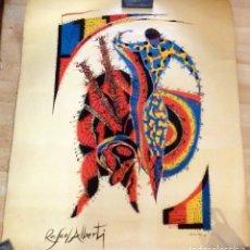 Arte: RAFAEL ALBERTI, CHICUELINA,FECHADO EN 1975, MEDIDAS 63X76 CMS. Lote 175182449