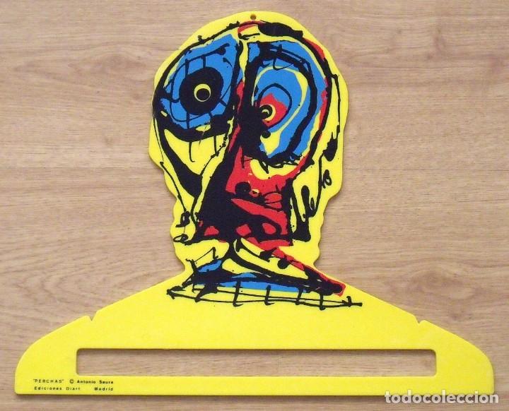 ANTONIO SAURA. PERCHA DE COLOR AMARILLO. EDICIONES DIART. MADRID. 1982. 34X41 CM. SERIGRAFÍA. (Arte - Serigrafías )