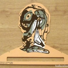 Arte: ANTONIO SAURA. PERCHA DE COLOR CARNE. EDICIONES DIART. MADRID. 1982. 34X41 CM. SERIGRAFÍA.. Lote 175778252