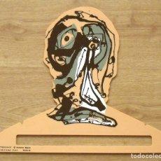 Arte: ANTONIO SAURA. PERCHA DE COLOR CARNE. EDICIONES DIART. MADRID. 1982. 34X41 CM. SERIGRAFÍA.. Lote 175778307