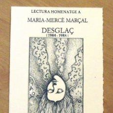 Arte: LECTURA HOMENATGE A MARIA-MERCÈ MARÇAL. CATALÒNIA. 2006. SERIGRAFIA DE RAUL CAPITANI. H.C. FIRMADA. . Lote 176515164