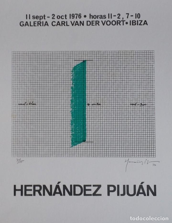 JOAN HERNANDEZ PIJUAN, SERIGRAFÍA, SOLO 15 EJEMPLARES, V. DER VOORT, 1976 (Arte - Serigrafías )