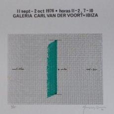 Arte: JOAN HERNANDEZ PIJUAN, SERIGRAFÍA, SOLO 15 EJEMPLARES, V. DER VOORT, 1976. Lote 177061168