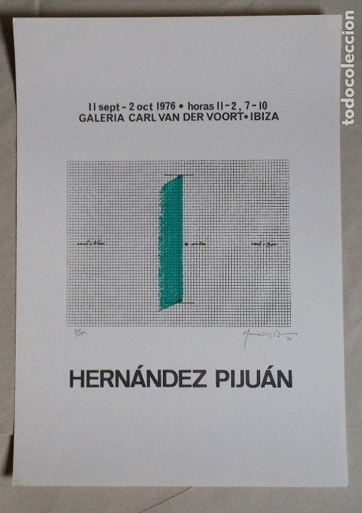 Arte: Joan HERNANDEZ PIJUAN, serigrafía, solo 15 ejemplares, V. der VOORT, 1976 - Foto 2 - 177061168
