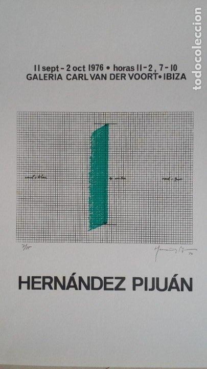 Arte: Joan HERNANDEZ PIJUAN, serigrafía, solo 15 ejemplares, V. der VOORT, 1976 - Foto 3 - 177061168