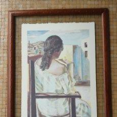 Arte: SALVADOR DALI MUCHACHA DE ESPALDAS - SERIGRAFIA NUMERADA A LÁPÌZ CON CERTIFICADO DE NOTARIO. Lote 178284610