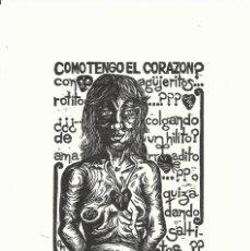Arte: CRISTINA GLADYS MÚNOZ. SERIGRAFÍA COM TENGO EL CORAZÓN? FIRMADA A MANO. NUMERADA 85/300. 2009.. Lote 178286386
