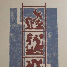 Arte: MARIA TERESA MARCH. SERIGRAFÍA ABSTRACTO. FIRMADA A MANO Y NUMERADA 77/180. 1988. 33X25 CM.. Lote 178292113