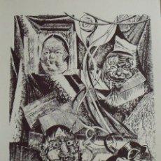 Arte: ROBERTO VIVES SAURÍ. SERIGRAFÍA MÁSCARAS. FIRMADA A MANO Y NUMERADA 19/180. 1988. 33X25 CM. . Lote 178292757