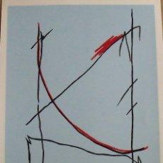 Arte: CARLOS SORIANO. SERIGRAFÍA RITMOS. FIRMADA A MANO Y NUMERADA 19/180. 1988. 33X25 CM. . Lote 178292897