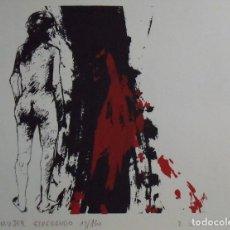 Arte: EDGARDO ZUNINI. SERIGRAFÍA MUJER ESPERANDO. FIRMADA A MANO Y NUMERADA 20/180. 1988. 25X33 CM.. Lote 178293357