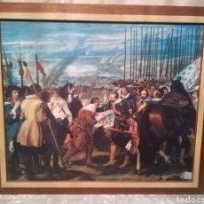 Arte: LOTE CUADRO LÁMINAS EMBARNIZADAS LA RENDICIÓN DE BRENDA + EL BUEN PASTOR. Lote 178979127
