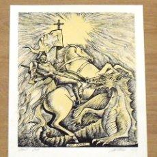 Arte: RAUL CAPITANI. SERIGRAFÍA SANT JORDI. FIRMADA A MANO. NUMERADA I/V. BUEN ESTADO. 50X32 CM. . Lote 179070897