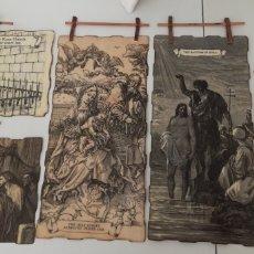 Arte: ORIGINAL COLECCIÓN DE GRABADOS RELIGIOSOS. Lote 182232978