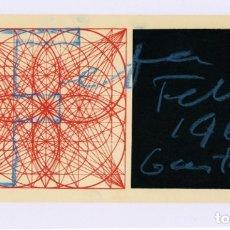 Art: GUSTAVO TORNER · FELICITACIÓN AÑO 1969, DEDICADA, FIRMADA. 10,5 X 21,5 CM. Lote 182349761