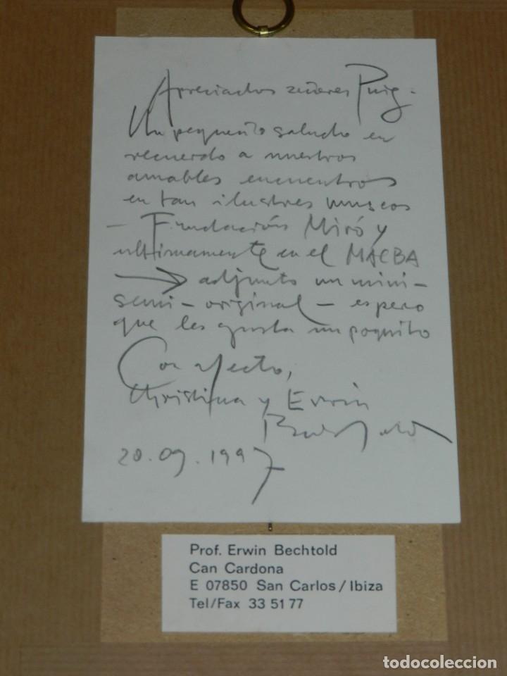 Arte: (M) Serigrafia de Erwin Bechtold XXVI / XXX - 20/09/1997 - Serigrafia 20,5x10 cm - Foto 4 - 182564342