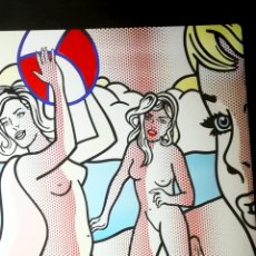 Arte: CARTEL ESPOSICION - ROY LICHTENSTEIN -EN F.J MARCH-NUDES WITH BEACH BALL-, 2007 TAMAÑO 98 X 69 CMS .. Lote 182652798