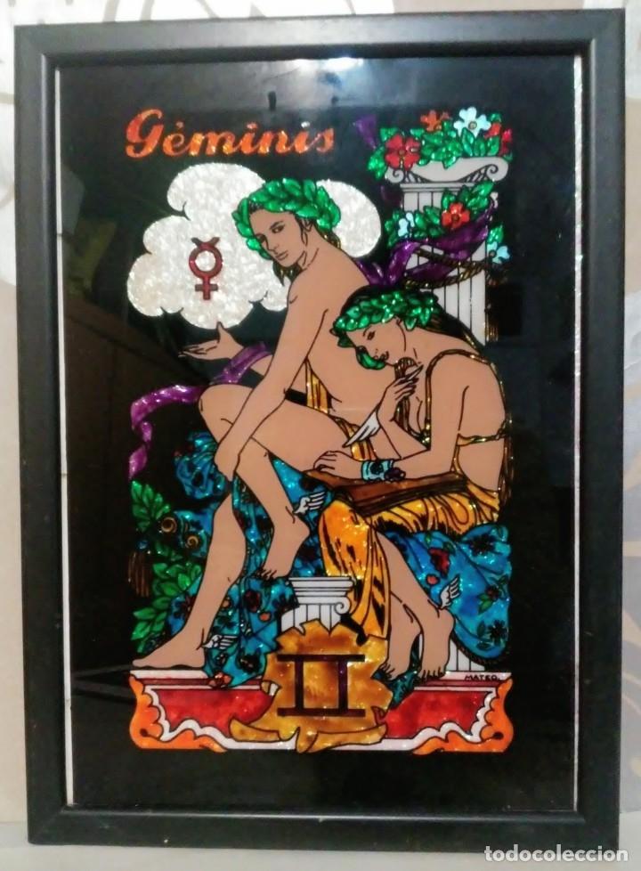 GEMINIS CRISTAL SERIGRAFIADO CREAFIC ENMARCADO (Arte - Serigrafías )