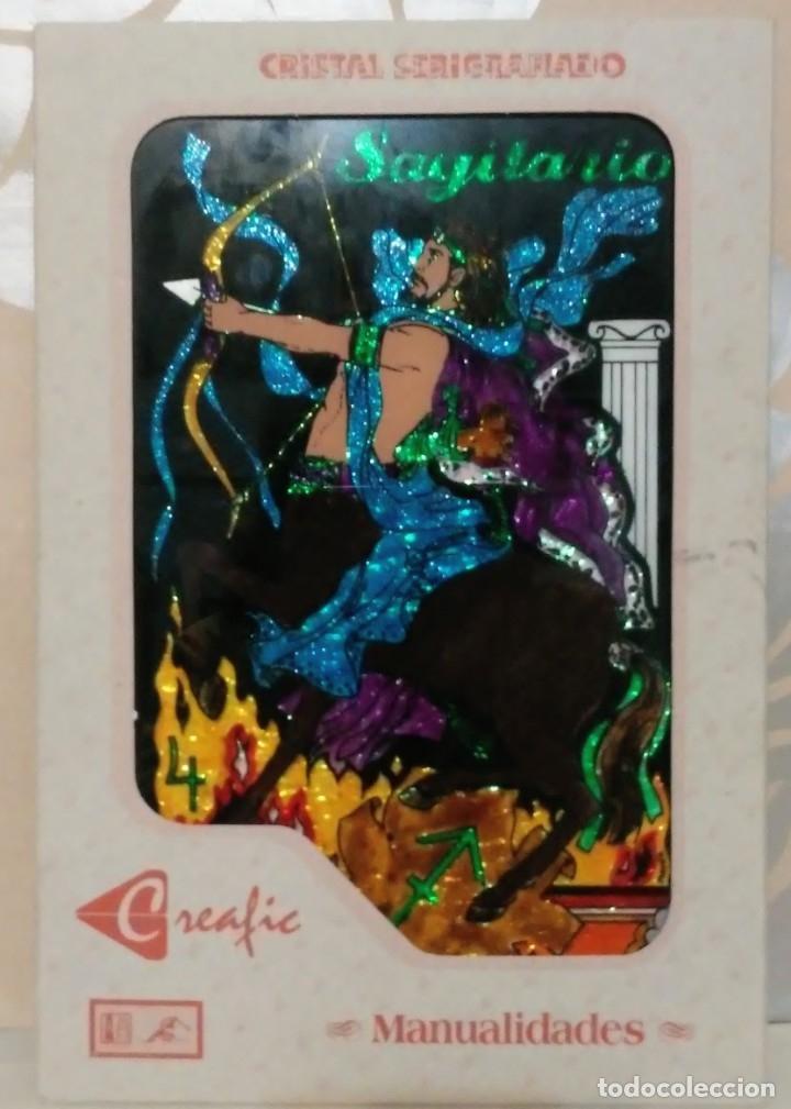 SAGITARIO CRISTAL SERIGRAFIADO CREAFIC (Arte - Serigrafías )
