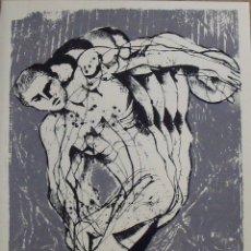 Arte: MANEL CARCELLER. SERIGRAFÍA EL DISCÓBOLO. FIRMADA A MANO Y NUMERADA 18/180. 1988. 33X25 CM.. Lote 183455021