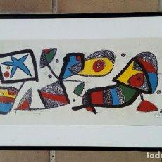 Art: JOAN MIRO. SERIGRAFIA FIRMADA EN PLANCHA. AÑO 1979.. Lote 183471798