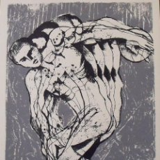 Arte: MANEL CARCELLER. SERIGRAFÍA EL DISCÓBOLO. FIRMADA A MANO Y NUMERADA 77/180. 1988. 33X25 CM.. Lote 183475000