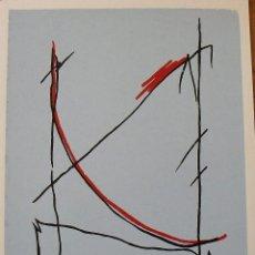 Arte: CARLOS SORIANO. SERIGRAFÍA RITMOS. FIRMADA A MANO Y NUMERADA HORS COMMERCE. 1988. 33X25 CM.. Lote 183475653