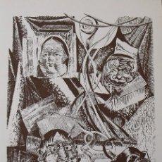 Arte: ROBERTO VIVES SAURÍ. SERIGRAFÍA MÁSCARAS. FIRMADA A MANO Y NUMERADA 77/180. 1988. 33X25 CM.. Lote 183476452