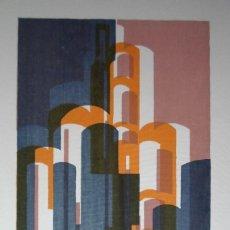 Art: JESÚS NÚÑEZ (BETANZOS, A CORUÑA, 1927) SERIGRAFÍA DE 1981 SOBRE LIENZO DE 30X40 EN 49X60 Y /275. Lote 183493990