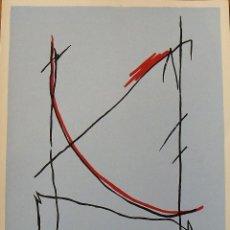Arte: CARLOS SORIANO. SERIGRAFÍA RITMOS. FIRMADA A MANO Y NUMERADA 20/180. 1988. 33X25 CM.. Lote 183567552