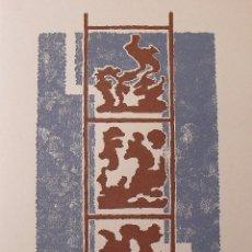 Arte: MARIA TERESA MARCH. SERIGRAFÍA ABSTRACTO. FIRMADA A MANO Y NUMERADA 20/180. 1988. 33X25 CM. . Lote 183567936