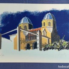 Arte: LUIS FRUTOS, IGLESIA DE ALTEA (ALICANTE), SERIGRAFÍA 141/350, FIRMADO (38 X 28 CM). Lote 183720457