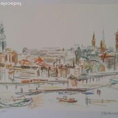 Arte: OSKAR KOKOSCHKA, SERIGRAFÍA NUMERADA DE 1961, FIRMADA EN PLANCHA. Lote 184259046