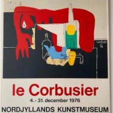 Arte: LE CORBUSIER , SERIGRAFIA ORIGINAL CARTEL DANMARK 1976 .. Lote 184270411
