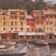 Arte: JOSEP Mª VAYREDA CANADELL (OLOT, 1932-2001) - MARINA DE ITALIA, PORTO FINO.PRUEBA DE AUTOR.FIRMADA.. Lote 184431550