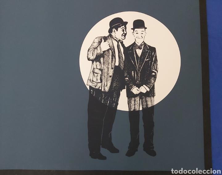 Arte: SERIGRAFIA AÑOS 80 GORDO Y EL FLACO. VINCENT BLOOM CINEMA II. SILVIO ZAMORANI EDITORE. - Foto 2 - 186453255