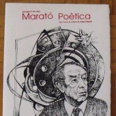Arte: JOAN VINYOLI. MARATÓ POÈTICA. CATALÒNIA. 2007. SERIGRAFIA FIRMADA Y NUMERADA DE RAUL CAPITANI.. Lote 188726268