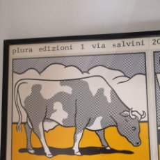 Arte: ROY LICHTENSTEIN TRIPTICO COW GOING ABSTRACT CARTEL DE 1985 ITALY. Lote 190170027