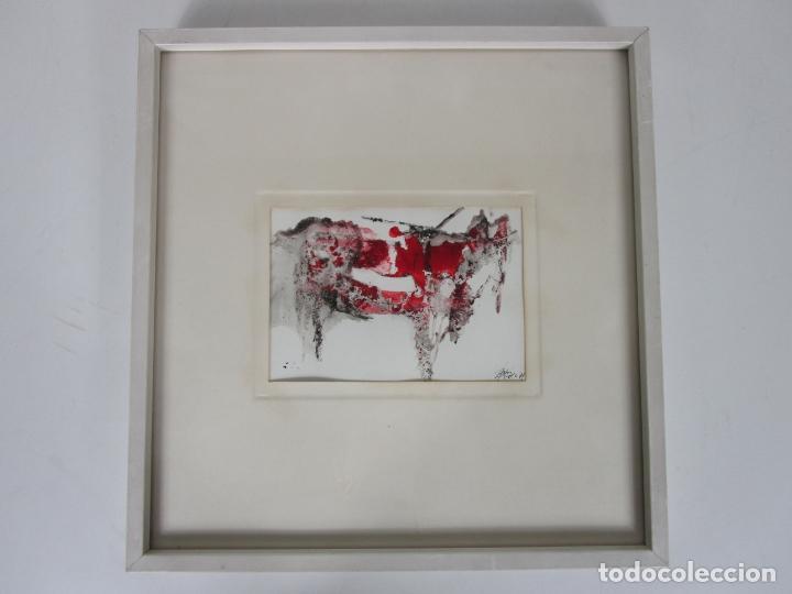 BONITA OBRA GRÁFICA - SERIGRAFÍA - TORO - FIRMA CARLOS PEREZ - AÑO 1971 (Arte - Serigrafías )
