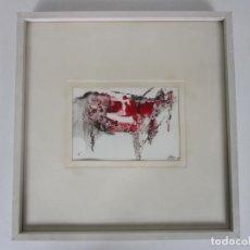 Art: BONITA OBRA GRÁFICA - SERIGRAFÍA - TORO - FIRMA CARLOS PEREZ - AÑO 1971. Lote 190897215
