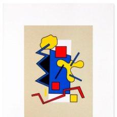 Arte: SERIGRAFÍA FIRMADA. ABSTRACTO GEOMÉTRICO Nº2 - P.A. FINALES AÑOS 80. Lote 68792141