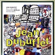 Arte: CARTEL - JEAN DE BUFFET - MELE MOMENTS - FONDATION BEYELER 2016. TAMAÑO 30X42 CMS. Lote 192758507